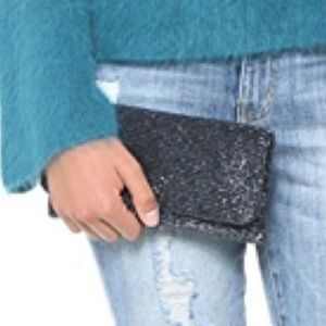 Metallic Clutch Moyna Fold over beaded clutch
